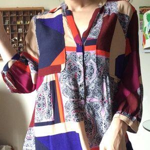 Anthropologie Tops - MAEVE Anthropologie Geometric Tunic Dress